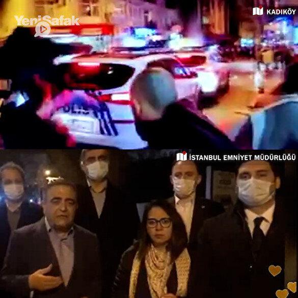 CHP'li vekiller Kadıköy'de polise saldıran ve gözaltına alınanlar için İstanbul Emniyet Müdürlüğü önüne gitti