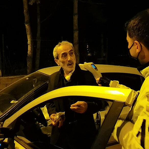 Kısıtlamada ehliyetsiz ve alkollü yakalanan sürücü: Alkol var, her şey var, sıkıntı yok iyi çek