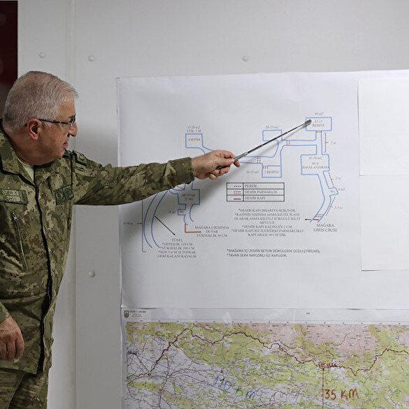 Genelkurmay Başkanı Gara operasyonunun detaylarını anlattı: 3 girişli, 9 odalı ve 7 kapılı mağara