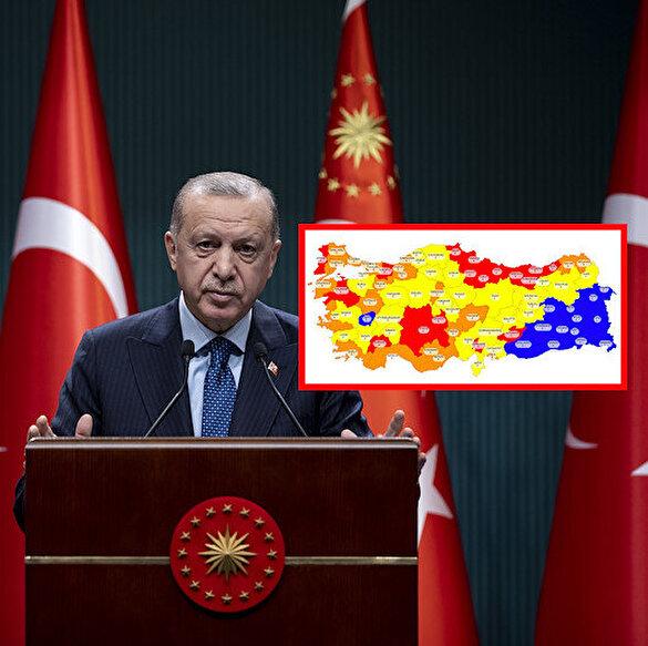 Cumhurbaşkanı Erdoğan'dan risk haritası uyarısı: Tüm iller salgın tedbirlerinin ne düzeyde uygulanacağını kendisi belirleyecek