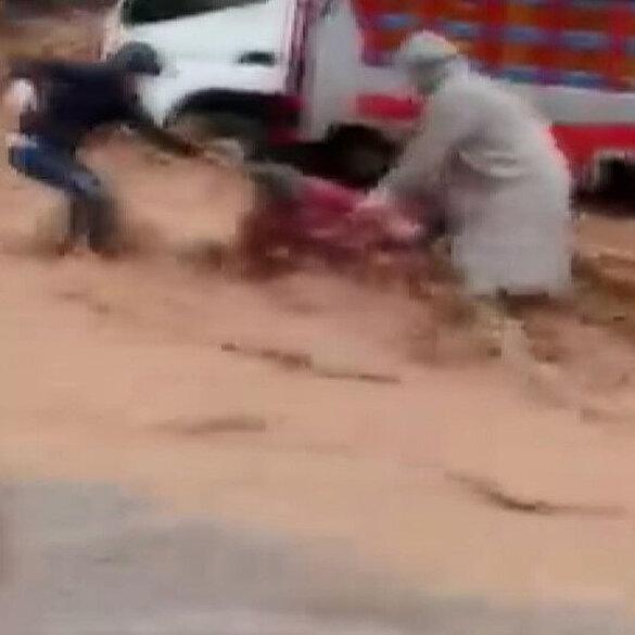 Fas'ta sel sularına kapılanlar son anda kurtarıldı