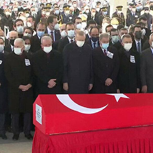 Kahramanlara veda: Şehitlerimize Ankara'da devlet töreni düzenlendi