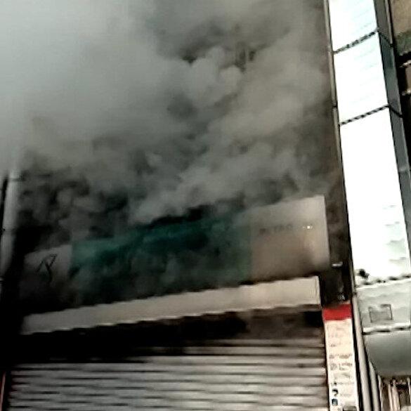 Bayrampaşa'da tamirhanede korkutan yangın