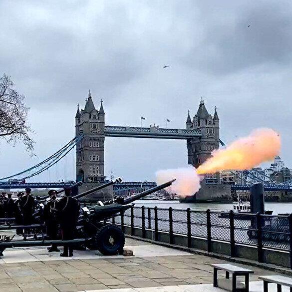 İngiltere'de Prens Philip için 41 pare top atışı yapıldı