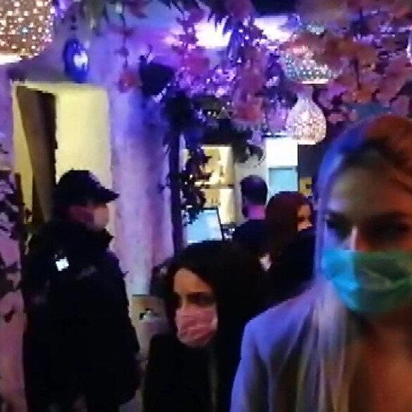 Beyoğlu'nda parti verilen bir otele baskın: 100 kişiye ceza kesildi