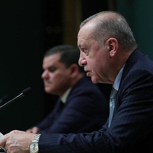 Cumhurbaşkanı Erdoğan: Libya ile imzaladığımız deniz yetki anlaşması konusunda kararlığımızı tekrar teyit ettik