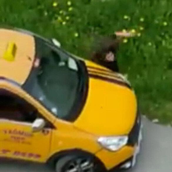 Mersin'de taksici önce kadını taciz etti, ardından üzerine aracı sürerek çarptı