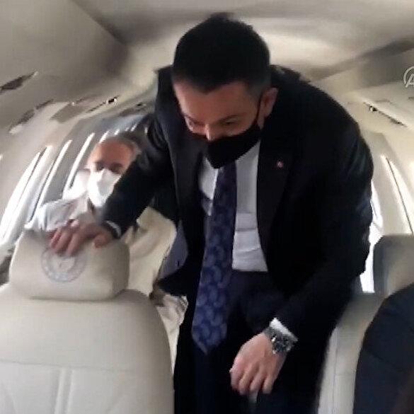 Bakan Pakdemirli'nin arızalanan uçağında panik anları: Sol motor gitti sayın bakanım