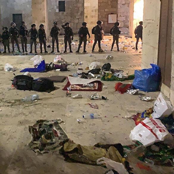 Kudüs'te zulüm gecesi: İşgalci İsrail askerlerinin saldırısında 178 Filistinli yaralandı