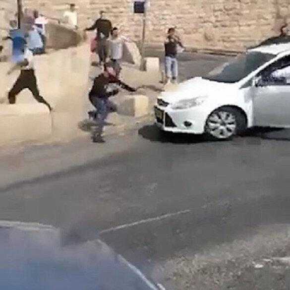 İsrailli işgalci Kudüs'te Filistinlileri arabayla ezip ateş açtı