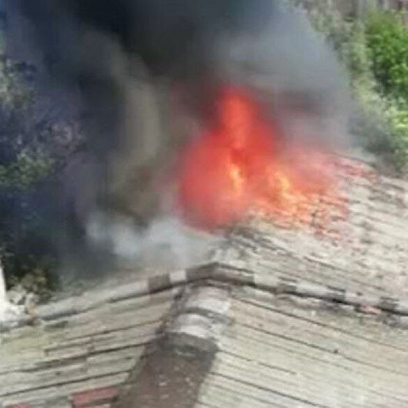 Bahçelievler'de marangoz atölyesinde korkutan yangın