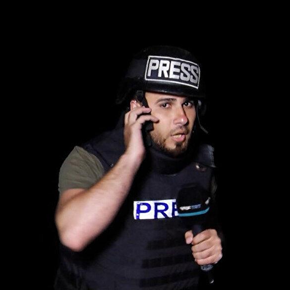 TRT Arapça muhabiri işgalci İsrail'in saldırısına canlı yayında yakalandı