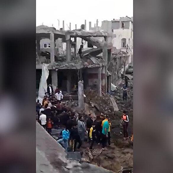 İsrail'in bombaladığı Gazze'de büyük yıkım
