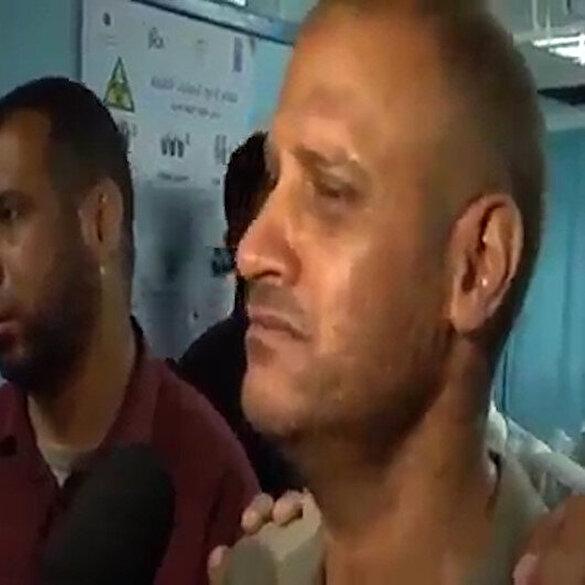 Filistinli baba yoğun bakımda sandığı çocuğunun şehadet haberini röportaj sırasında öğrendi