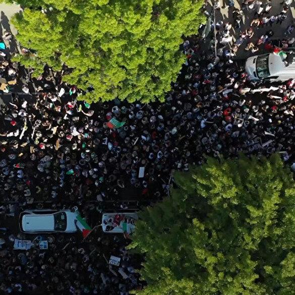ABD'de Filistin'e destek gösterileri düzenlendi