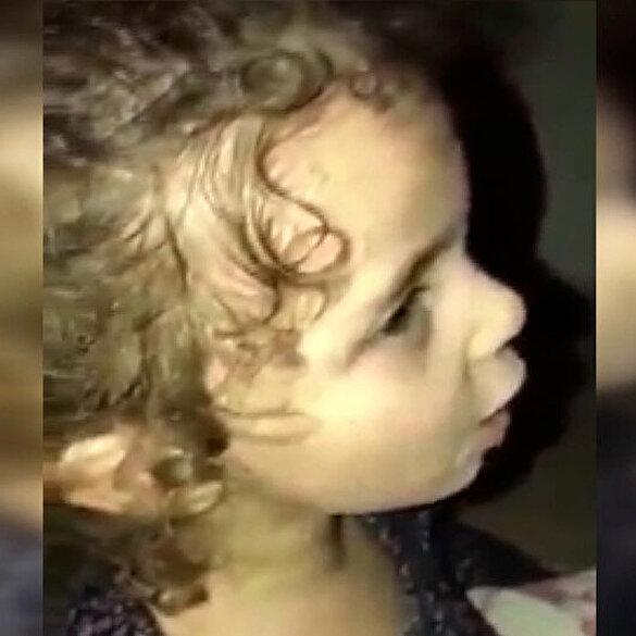 İşgalci İsrail'in bombardımanı sırasında küçük kızın dua ettiği anlara ait görüntüler ortaya çıktı