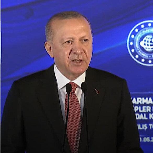 Cumhurbaşkanı Erdoğan: Yakında temelini atacağımız Kanal İstanbul da ülkemizin iftihar tablosu içindeki yerini alacaktır
