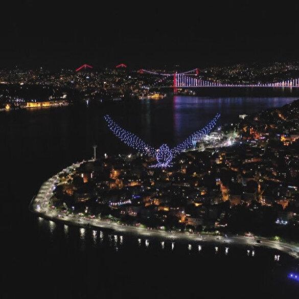 İstanbul'da 500 dronela şahane ışık gösterisi