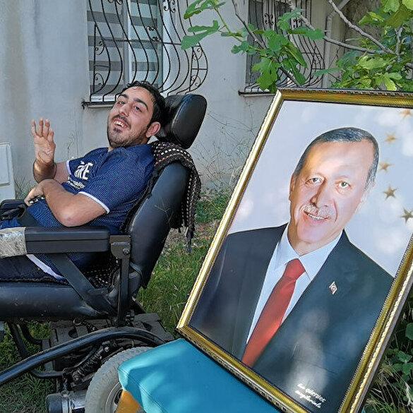 Bedensel engelli Emir'in Cumhurbaşkanı Erdoğan'la görüşme hayali gerçek oldu