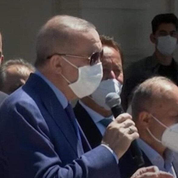 Cumhurbaşkanı Erdoğan: Üsküdar Belediyesi önünde eylem yapın ben de geleceğim