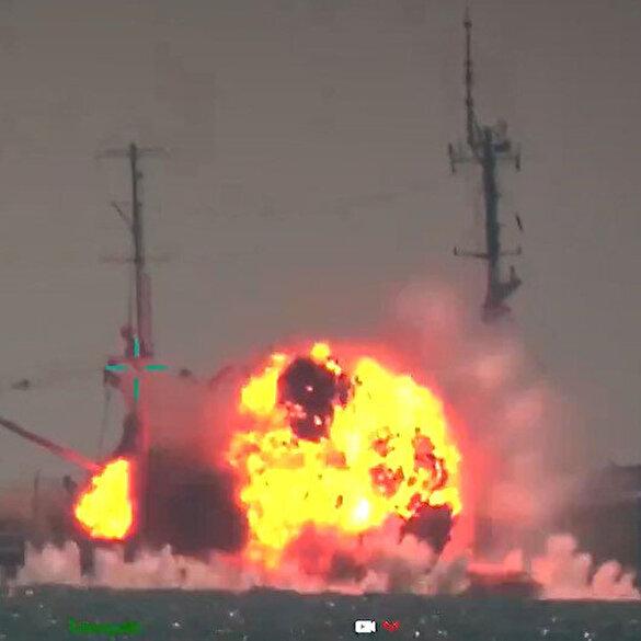 Cumhurbaşkanı Erdoğan paylaştı: Mavi Vatanımızın Çelik Kılıcı ATMACA Gemisavar Füzemiz ilk kez bir gemi hedefini tam isabetle vurmayı başardı