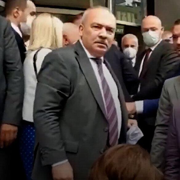 İYİ Partili Şükrü Kuleyin kendisine uzatılan mikrofonu beğenmedi: Alın şunu buradan