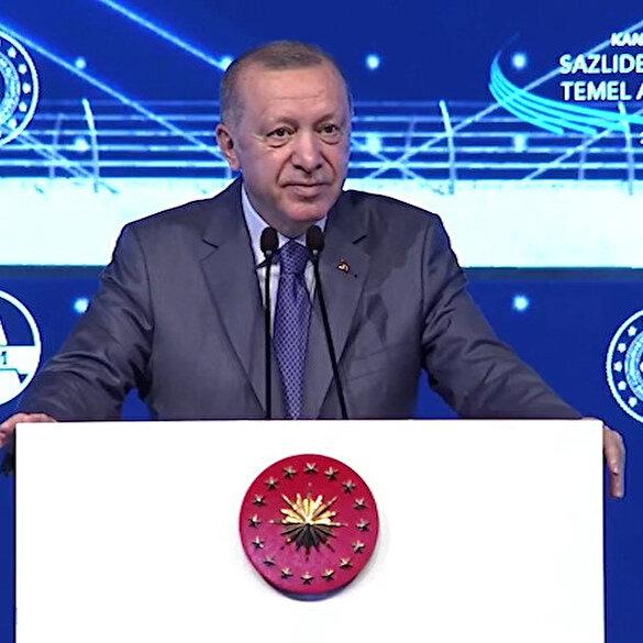 Cumhurbaşkanı Erdoğan'dan Kılıçdaroğlu'na: Bak bu musluk takma töreni değil, dünyaya örnek bir kanalın temelini atıyoruz