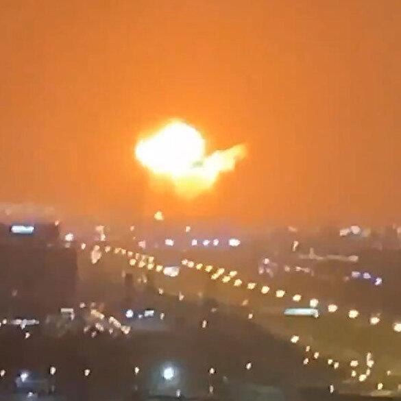 Dubai'de şiddetli patlama: Alevler gökyüzünü aydınlattı