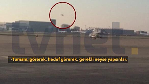 15 Temmuz'a ait yeni görüntüler: Cumhurbaşkanı Erdoğan'ı vurmak için helikopterle Atatürk Havalimanı'na gelen FETÖ'cüler böyle görüntülendi