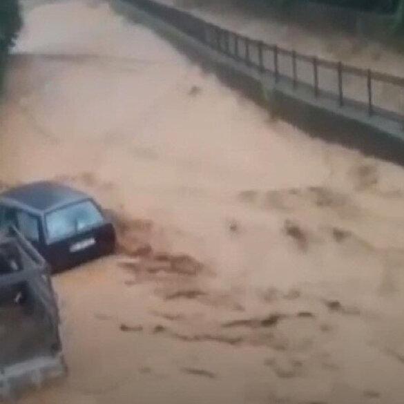 Rize'deki sel ve heyelana ait yeni görüntüler ortaya çıktı