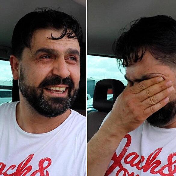 Türkiye'ye giriş yapan gurbetçi vatandaş gözyaşlarını tutamadı: O bayrağı görmek dünyaya bedel sevin Türkiye'yi sevin