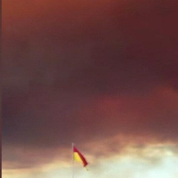 Manavgat yangınından yeni görüntüler: Gökyüzü dumanla kaplandı