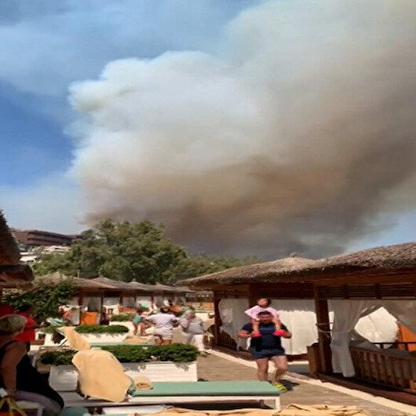 Bodrum Güvercinlik bölgesindeki oteller tahliye ediliyor