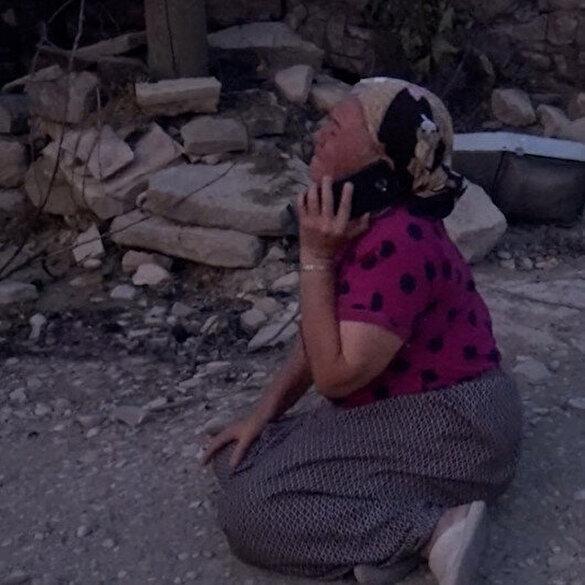 Manavgat'ta evi küle dönen kadının yürek yakan feryadı: Böyle acı mı olur Allah'ım