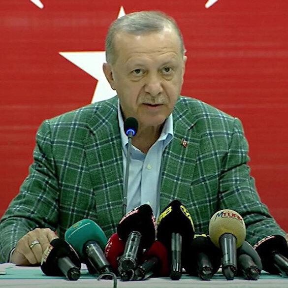 Cumhurbaşkanı Erdoğan: Yanan alanlarda fidan dikimine ilk yağmurlarla birlikte hemen başlayacağız