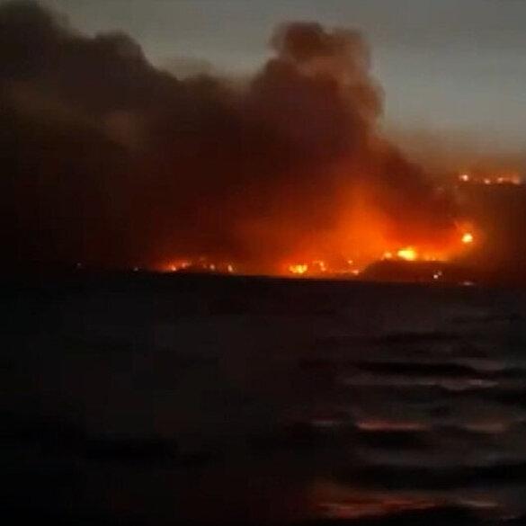 Milas yangınında termik santral tehdit altında