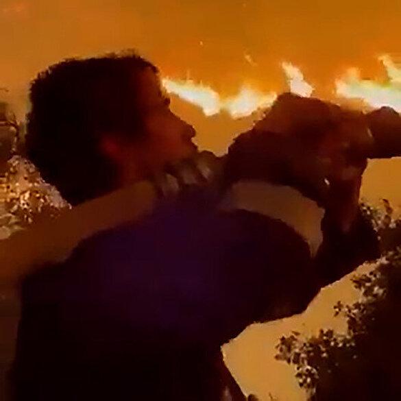 Oyuncu İbrahim Çelikkol Milas'ta yangınla mücadeleye koştu