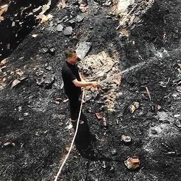 Evlat nöbeti tutan Süleyman Aydın'ın evi ve ahırı ateşe verildi