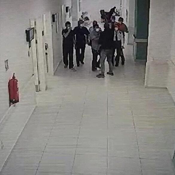 Isparta'da acil servis doktoruna yumruklu saldırı kamerada