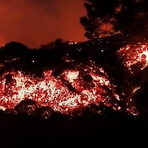 İspanya'nın Kanarya Adaları'ndaki La Palma yanardağında patlama