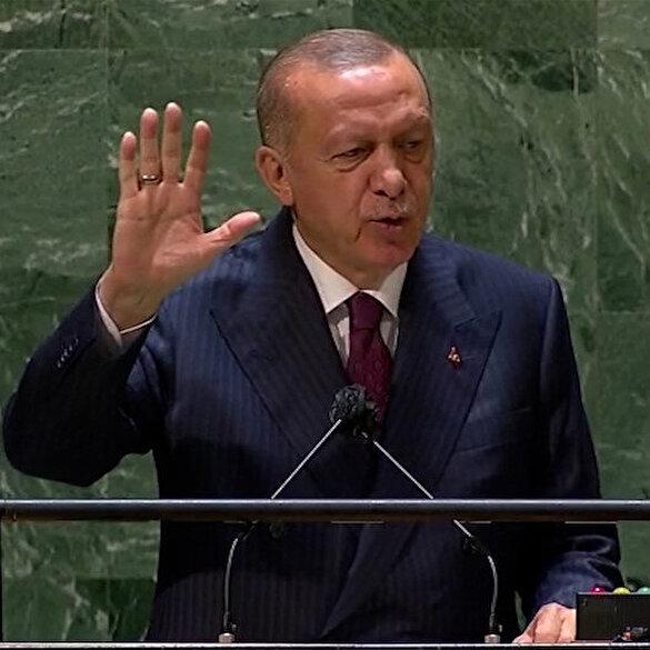 Cumhurbaşkanı Erdoğan'dan BM'de 'Dünya 5'ten büyüktür' çıkışı: Doğayı sömüren elini taşın altına koysun