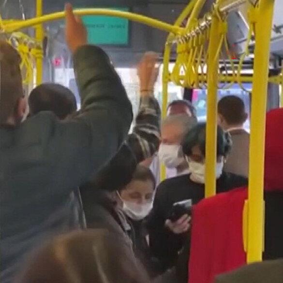 Ümraniye'de psikolojisi bozulan İETT şoförü araçtan indirmek istediği yolcularla tartıştı