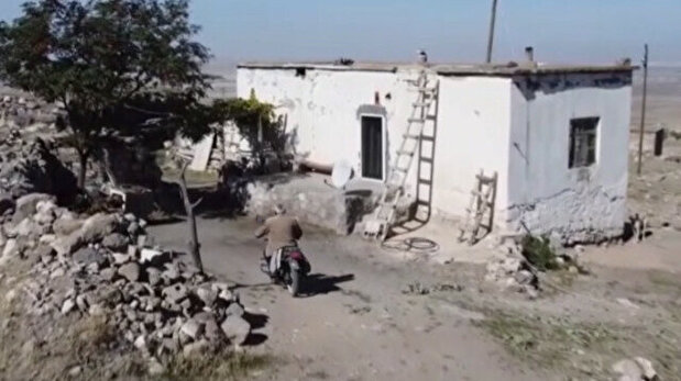 Elderly man lives alone in abandoned village ...