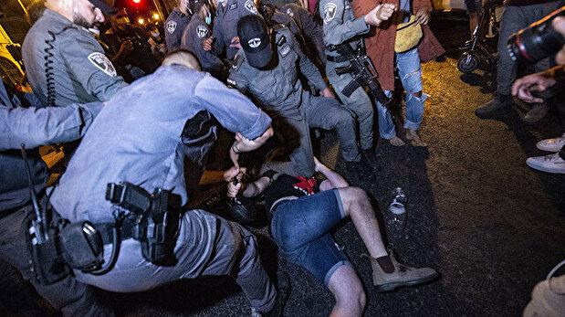Protest in West Jerusalem against Israeli PM Netanyahu