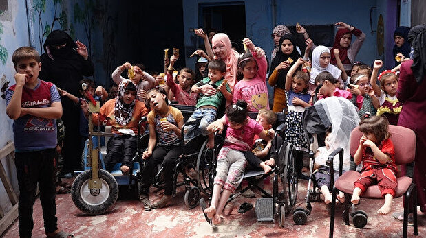 Syrian woman converts her home into a school for 60 disabled children