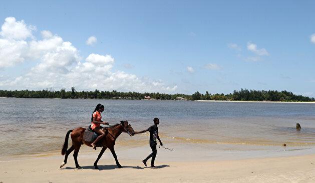 Tourists visit gorgeous tropical beaches of Ivory Coast