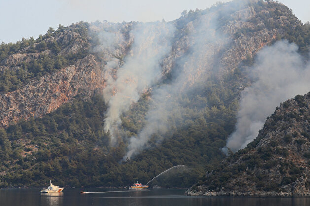 Coast Guard dispatched to extinguish devastating blaze in Turkey's Marmaris