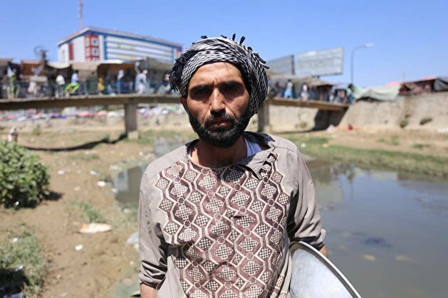 Naser Ahmed makes a living from mining gold in Afghanistan