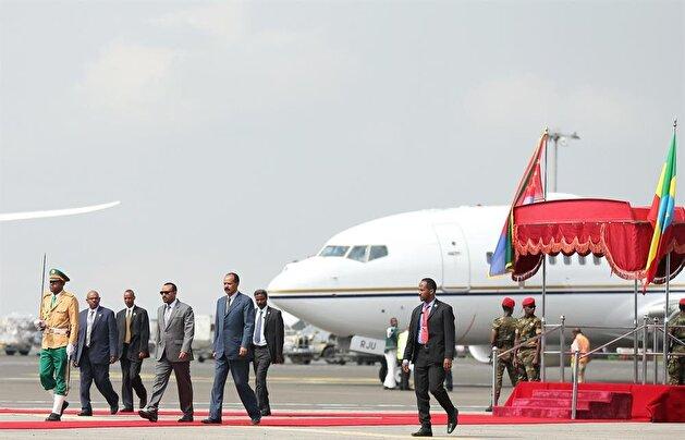 Eritrea's president in Ethiopia for historic visit