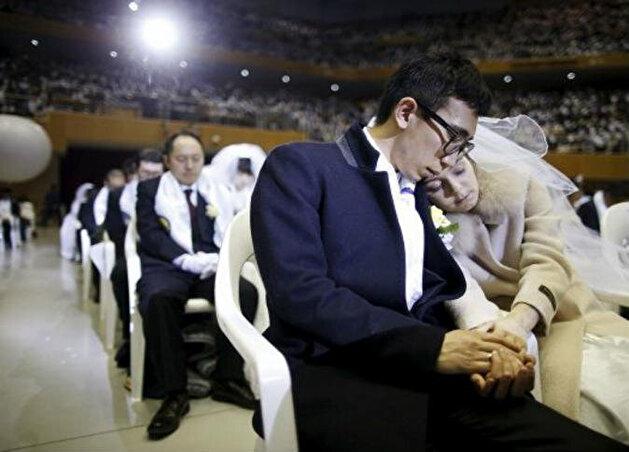 حفل زفاف جماعي لـ15 ألف زوج بكوريا الجنوبية